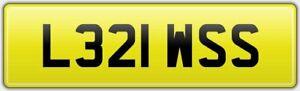 LEWIS-PRIVATE-OLD-CAR-REG-NUMBER-PLATE-L321-WSS-Lew-Louey-Lewy-Lewey-Lewie-Lu
