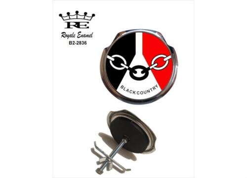 Royale Classic Car Grill Badge BLACK COUNTRY FLAG Fittings B2.2836
