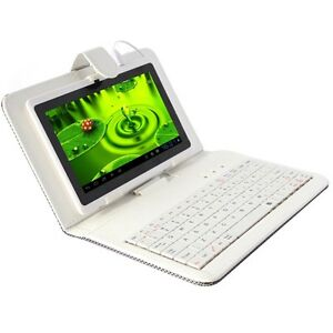 7-16GB-Google-Android-4-0-Capacitive-Touch-Screen-Wifi-White-Tablet-Keyboard