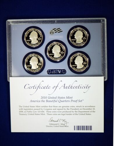Mint CLAD America the Beautiful Quarters Proof Set. 2010  U.S