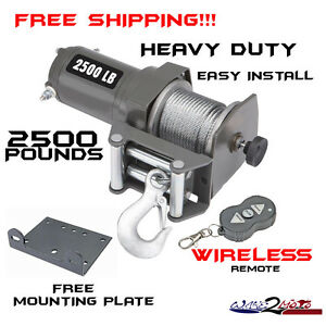 2500lb pound winch kit atv quad utv sxs muv yamaha viking rhino
