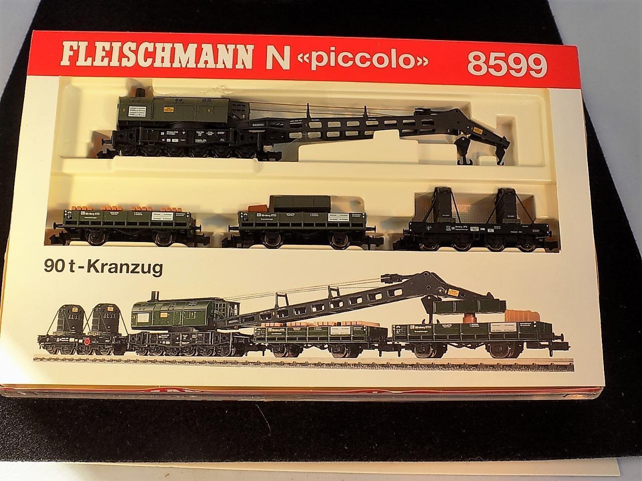 FLEISCHMANN N SCALE 8599 90 90 90 t - KRANZUG. NEW IN ORIGINAL BOX.SUPER RARE 38863f