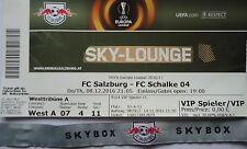 VIP BIGLIETTO Sky Lounge & Band UEFA el 2016/17 FC Salzburg-FC Schalke 04