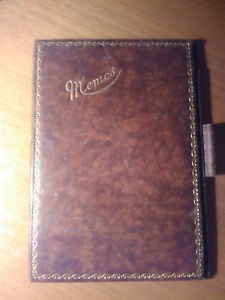 Doux Vintage '20s: C.letts & Co. Fine Leather Memos Book. Inside Adv. Of Cow&gate, Uk Promouvoir La Production De Fluide Corporel Et De Salive