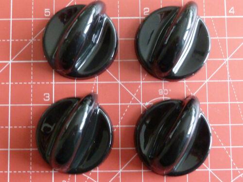 Four Baumatic,Candy,Creda,Hoover,Universa Hob//Cooker Black Knob Kits Adaptors