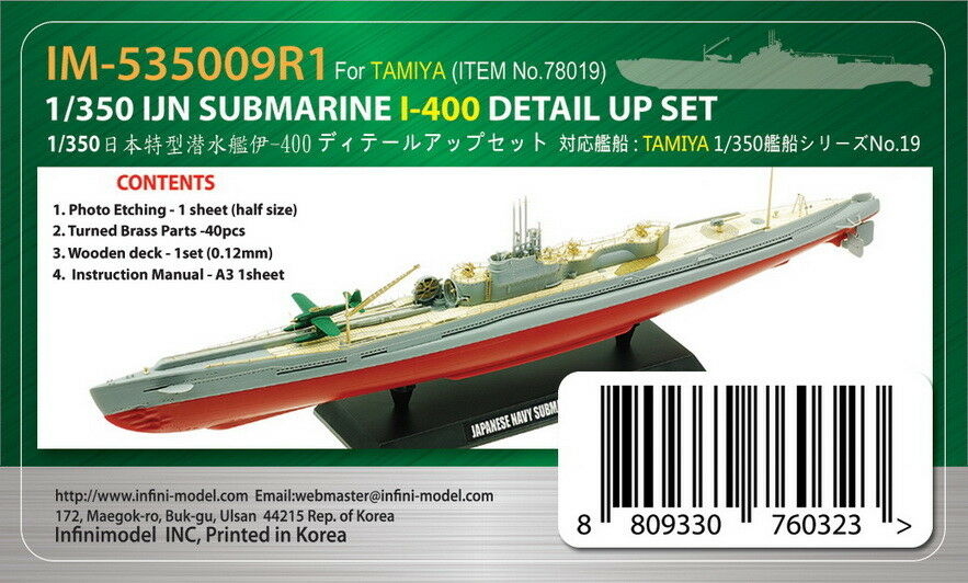 Infini 1 350 IJN Submarine I-400 Detail-up Set for Tamiya kit