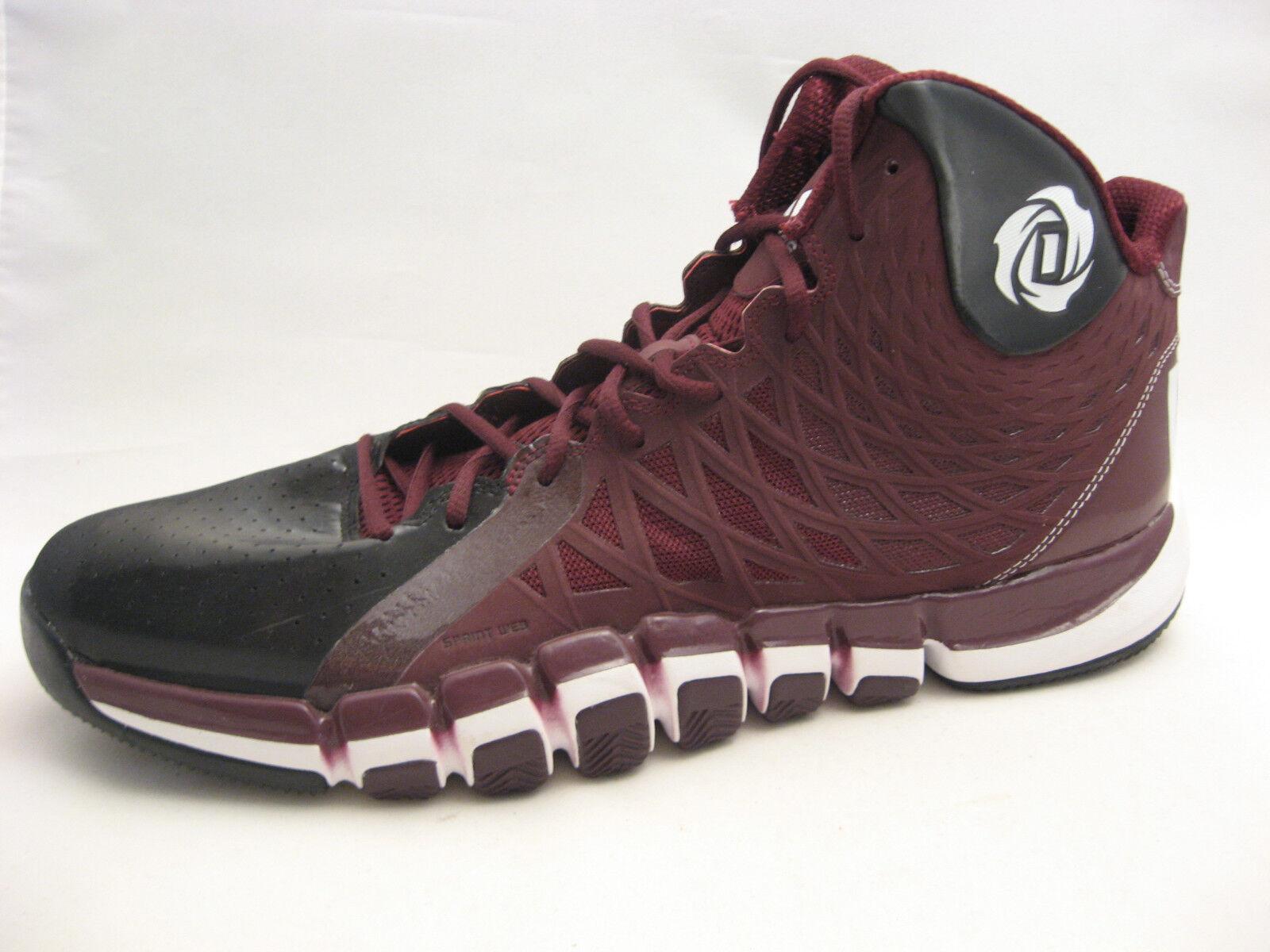 Adidas s rose 773 ii scarpe da basket dimensioni 17 maroon borgogna