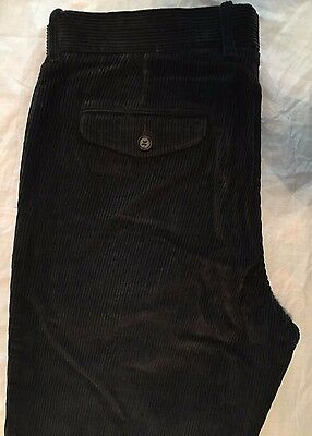 Mens M&S Blue Harbour Cotton Cord Trousers 42W/31L Charcoal - BNWT