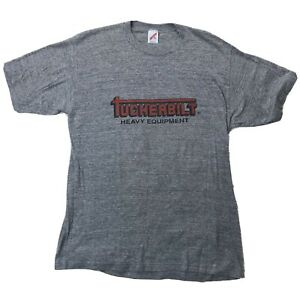 Vtg-Tuckerbilt-Heavy-Equipment-Shirt-Sz-XL-Gray-Red-Black-Short-Sleeve-Tee