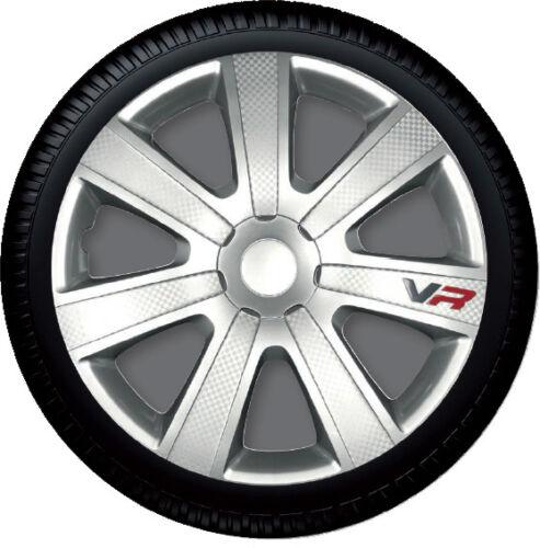 4 Copricerchi auto universali coppa ruota 13/'/' borchie GORECKI VR CARBON in ABS