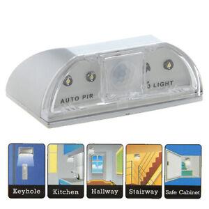 Detecteur-de-Mouvement-Lumiere-Lampe-4-LED-Veilleuse-Murale-Porte-Serrure