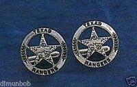 Engraved Texas Ranger Badge Cuff Links