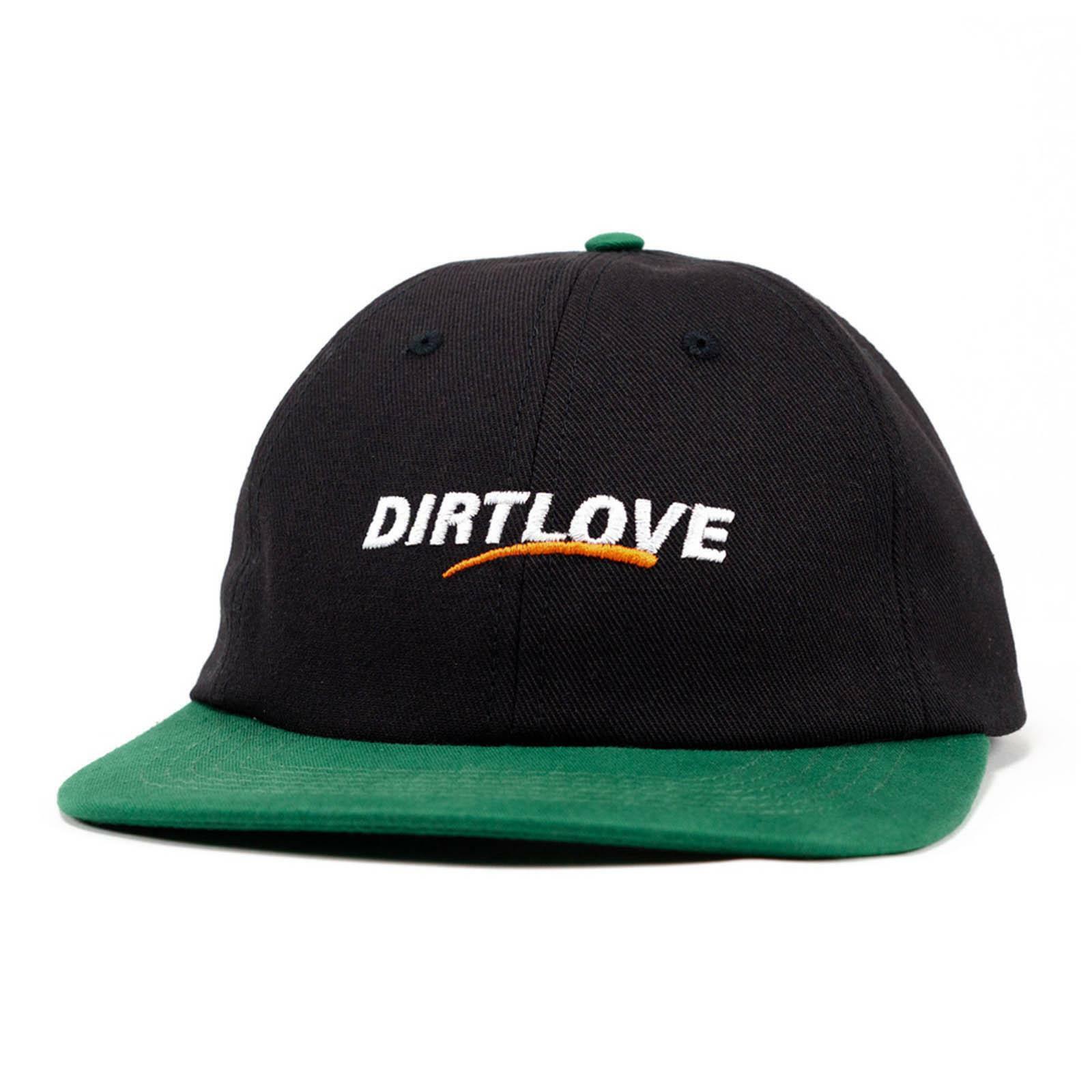 Dirt Love Clothing Cap Concern 6Panel Schwarz Grün One Size Verstellbar Kappe
