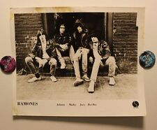 Original RAMONES (1980) Press/Publicity PHOTO (published) joey dee dee johnny