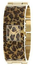 Guess Watch Women By Guess Stainless Steel Band Gold Animal Print W0052L2