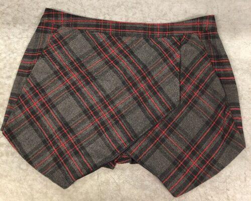 *NEW* Parisian Collection Mad Plaid Skort Skirt Shorts Junior Sz 12 Boutique