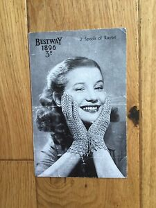 Vintage Bestway Crochet Pattern For Ladies Lacy Gloves