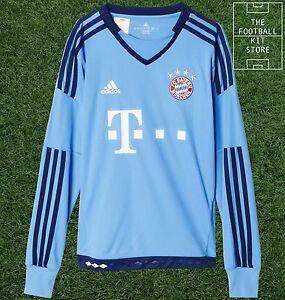 timeless design e223d d2d33 Details about Bayern Munich Goalkeeper Shirt - Official adidas Boys  Football Shirt - All Sizes