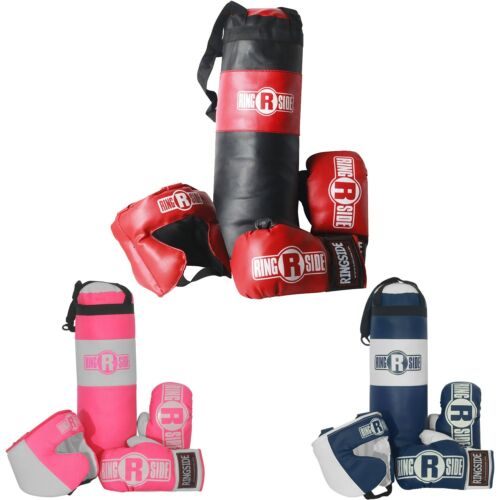 Ringside Kids Boxing Kit Training Bag Set Punching Bag Gloves Heavy Bag