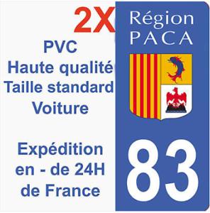 Autocollant-Sticker-Neuf-plaque-immatriculation-departement-83-Region-PACA-HQ