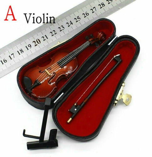 1//6 Scale Handmade Wooden Folk Musical Instrument Violin China Lute Guitar Model