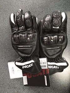 Guanti-in-pelle-DUCATI-sport-C2-neri-Leather-gloves-Ducati-sport-C2