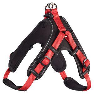 Hunter-Dog-Harness-Neoprene-Vario-Quick-Red-Black-Various-Sizes-New