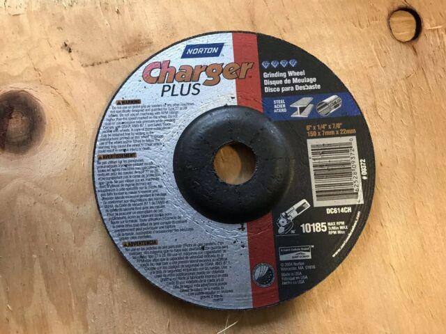 "Norton Charger 6/"" Steel Grinder Wheel 6/"" x 1//4/"" x 7//8/"" Grinding Aluminum Oxide"