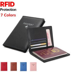 Fashion-Leather-Passport-Case-Holder-RFID-Blocking-Travel-ID-Credit-Card-Wallet
