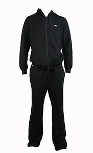 MEN-039-S-LACOSTE-TRACK-RACING-2-PCS-ZIP-JACKET-amp-PANTS-TRACKSUITS-BLACK