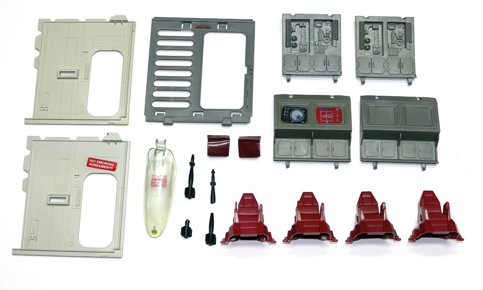 1986 Cobra Terror Drome - Parts Lot - 16 Total Pieces