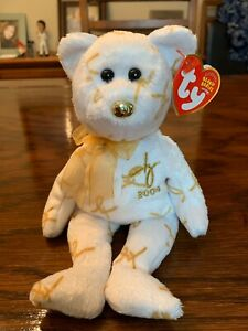 Ty 2004 Signature Beanie Bear, Retired, MWMT, One Owner
