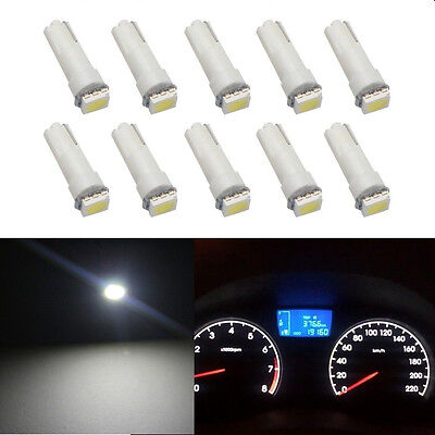 50x T5 Wedge 5050 SMD Bulbs Dashboard Gauge Instrument Panel Clusters LED Lights