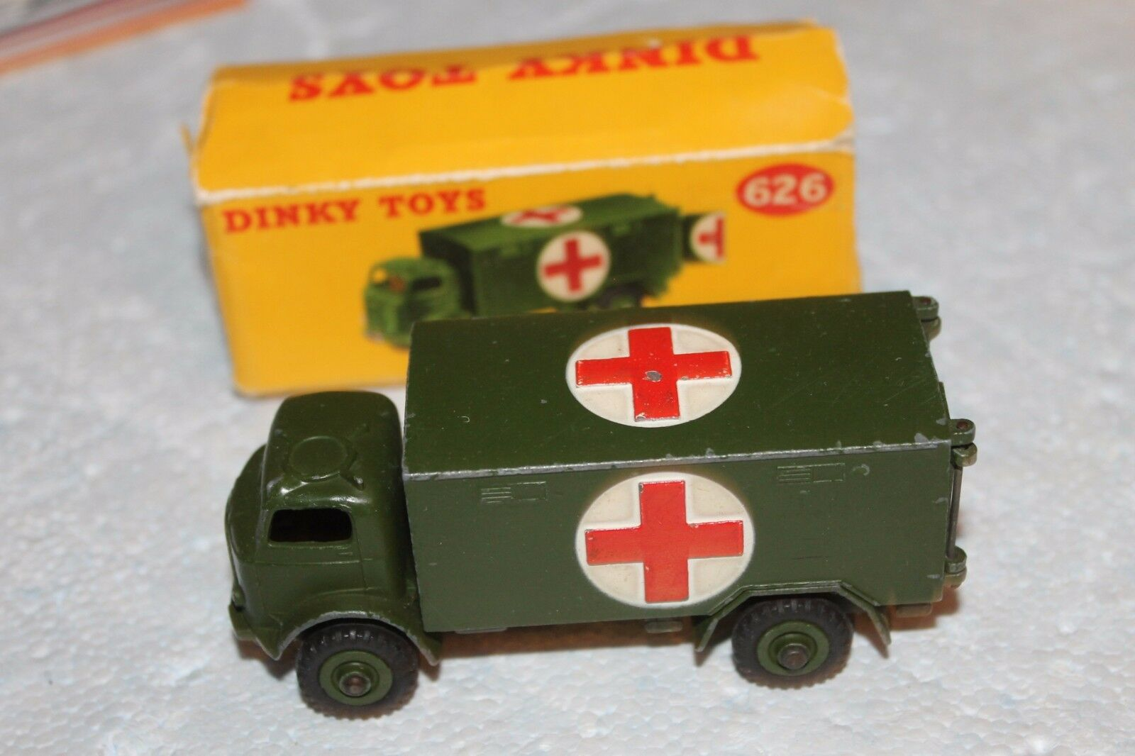 MILITARY DINKY by MECCANO      626  AMBULANCE WITH BOX