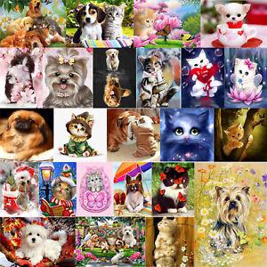 Cute-Cat-Dog-5D-DIY-Diamond-Painting-Cross-Stitch-Embroidery-Craft-Home-Decor
