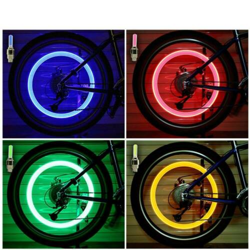 2//4 Pcs Valve Stem LED CAP for Bike Bicycle Car Motorcycle Wheel Tire Light lamp