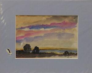 """ Expressif Landschaftansicht "" Aquarelle Monogr.sign Dat. Manetstötter K. A. ."