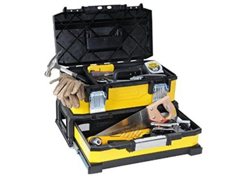 NEW /'Stanley 20Tool Box Metal Plastic with Integrated Drawer-1//95829-No Tools..