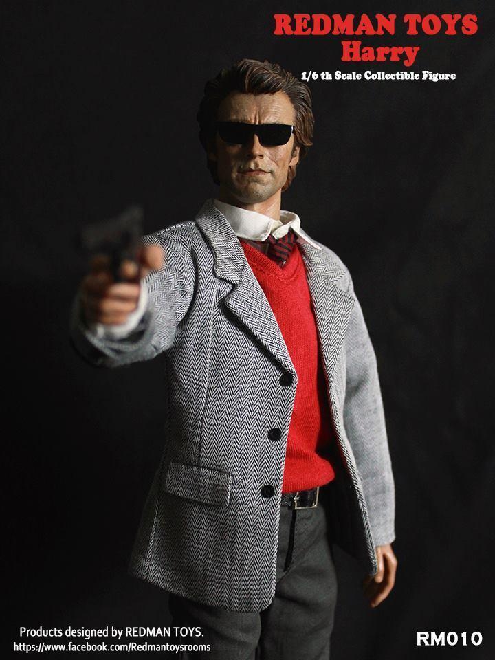 1 6 Escala Figura de colección rojoman Juguetes Clint Eastwood Dirty Harry no iminime