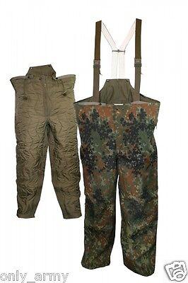 German Army Flecktarn Trouser GORETEX Bib & Brace Over Trouser Used Surplus