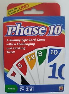Phase 10 Card Game by Mattel **NEW in Box**