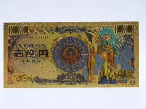Zodiaque Aphrodite Chevalier d/'Or du Poisson Gold Billets Saint Seiya