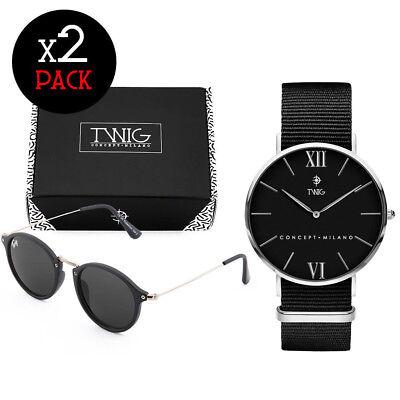 Coppia orologio + occhiali da sole TWIG Pack HARING + KLIMT uomo/donna