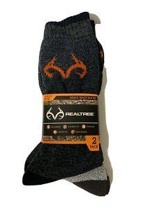 RealTree-Men-039-s-Boot-Socks-2-pairs-size-6-12-MSRP-Hiking-Hunting
