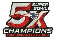 Super Bowl 51 England Patriots Patch 5x Champions Superbowl Champ Brady 4