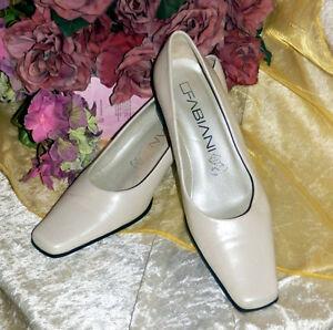 SH-Hochzeitschuhe-Braut-Lederschuh-Pumps-Marke-Fabiani-ITALY-ivory-creme-38