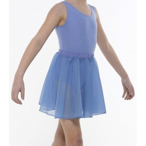 Sky blue Girls chiffon Circular Skirt dance ballet