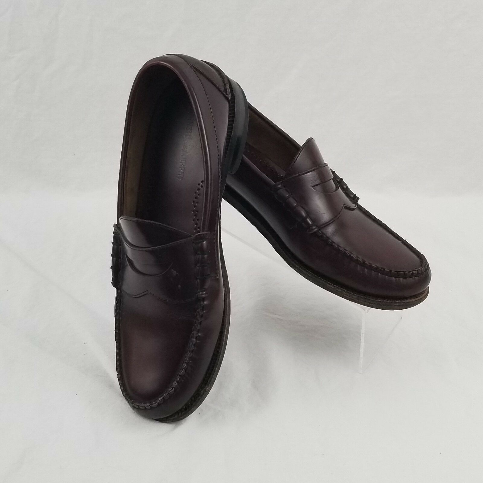 Johnston Moc & Murphy Aristocraft Burgundy Leather Penny Loafers Moc Johnston Toe size 9 e8 ea6444