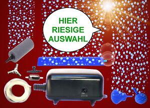 Aquarium-Deko-SPRUDLER-SETS-LUFTPUMPE-Zubehoer-Luftstein-Membranpumpe