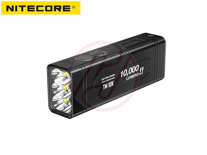 NiteCore TM10K 6x Cree XHP35HD 10000lm USB-C w  Rechargeable Battery Torch